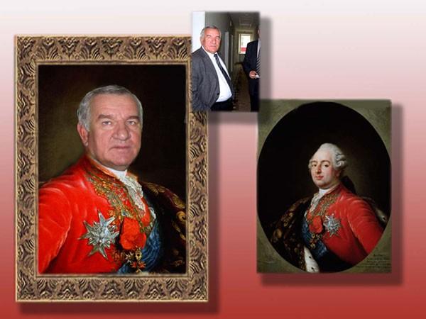 Коллаж и портрет на холсте