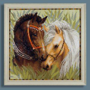 алмазная мозаика Лошади