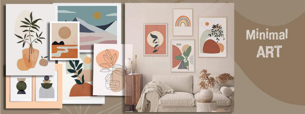 Минимализм, как пример того, какие картины сейчас модно вешать в квартире