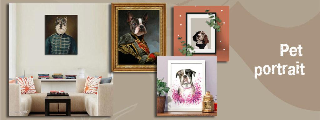 Портреты домашних животных это модные картины для интерьера