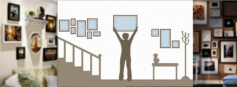 Ищем идею, как развесить картины на стене красиво.